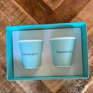 "Tiffany & Co. bone china ""paper cups"" set"